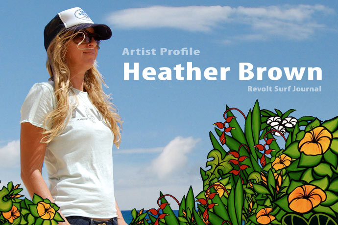 Heather Brown surf-art
